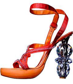VIKTOR & ROLF Crystal Heels