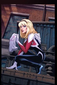 Rare variant with the first appearance of Earth Gwen Stacy as Spider-Woman, or Spider-Gwen as she is also know. Gwen Stacy, Comic Book Characters, Marvel Characters, Comic Character, Comic Books, Comic Art, Comic Pics, Marvel Films, Marvel Comics