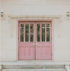 Pretty pink door.