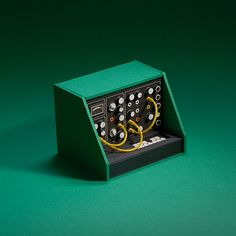 Analogue miniature audio synthesizer hand-made cardboard model by Dan McPharlin. Bartop Arcade, 3d Cinema, Analog Synth, Cardboard Model, Colossal Art, Retro Futuristic, 3d Max, Pixel Art, Creative Art