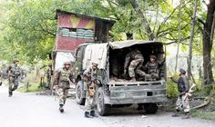 Troops rush to encounter site at Uri.  -Excelsior/Aabid Nabi