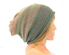 knitted cotton hat, knit colorful cloche, striped sloche, accessories