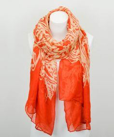 Orange Abstract Scarf #zulily #zulilyfinds