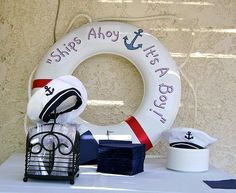 Ships ahoy, it's a boy!  Neat decor idea:)