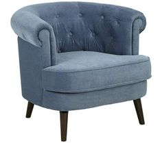 Elwood Tufted Blue Accent Chair   55DowningStreet.com
