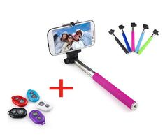 This extendable handheld selfie stick allows you to take selfies, shots around corners, over edges and so much more. For use with Gopro, iPhone, Android and oth