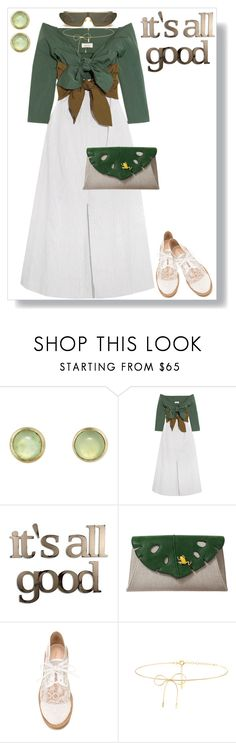 """New For Spring"" by petalp ❤ liked on Polyvore featuring Melissa Joy Manning, Isa Arfen, Letter2Word, Charlotte Olympia, Nicholas Kirkwood and Lilou"
