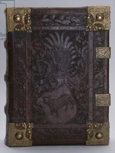 Book cover, Nuremberg, c.1460 (leather & brass)