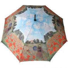 Stickumbrella printed with Claude Monets Poppy Field.  https://www.rosemarie-schulz.eu/en/umbrellas/78-stickumbrella-claude-monet-poppyfield.html