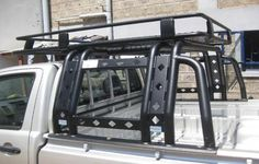 Roof Rack with Rollbar Absolutely love this set up, perfect for a bench seat in bed for a play truck! New Trucks, Custom Trucks, Cool Trucks, Chevy Trucks, Pickup Trucks, Truck Accesories, Car Accessories, Truck Mods, Truck Camper