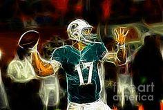 Ryan Tannehill, Miami Dolphin Quarterback, Miami Dolphins, Tannehill, #17, 17, Football, American football, NY Giants, New York Giants, NFL, Super Bowl, paul ward, National Football League, fantasy art, fantasy sports, fantasy football, sport, football player,;