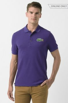 Lacoste Short Sleeve Big Croc Pique Polo : Short Sleeve