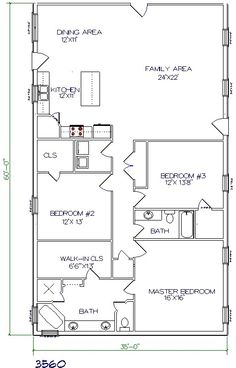 Floor plan 2100 SF