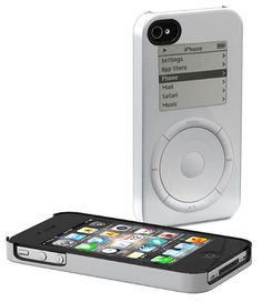 At first I thought these were just a Photoshopped gag, but nope, these are real and for sale. A company called Schreer Delights is selling a line of iPhone cases that reference Apple's design history, printing visual elements from the original Mac, the original iMac and the original iPod directly...