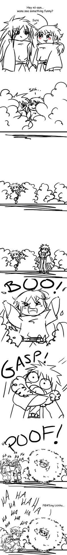 Tobirama Senju, Madara and Izuna Uchiha.I think I just died laughing! Madara Vs Hashirama, Naruto Y Boruto, Narusaku, Naruto Art, Naruhina, Itachi, Anime Naruto, Shikatema, Akatsuki