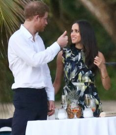 Britain's Prince Harry went to Jamaica in order to attend the wedding ceremony of the couple Tom Inskip and Lara Hughes-Young who are one of his closest friends. Meghan Markle arrived in Jamaica the same day with a different flight and accompanied Prince Harry at the wedding ceremony. The couple met at Montego bay of Jamaica. Meghan Markle wore a Bird Print Silk Maxi Gown by ERDEM Pre fall 2017 collection at the wedding ceremony in Jamaica.