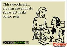 men are animals