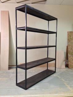 Custom Made Industrial Modern Bookshelf