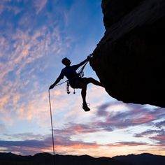 Rock climbing...someday I'm gonna get a chance to climb somewhere besides the climbing wall here in KS.