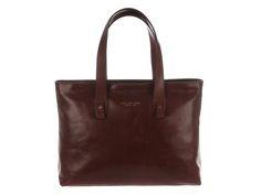 The Bridge Brown Italian Leather Large Shopping Tote | 04436501-14