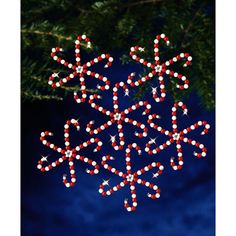 Holiday+Beaded+Ornament+Kit-Candy+Cane+Snowflakes
