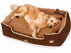 PLS Thermo Bolster Dog Bed with Pillow and Removable Cover with Zipper Large -- Click image to review more details.
