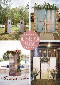 altar puerta boda