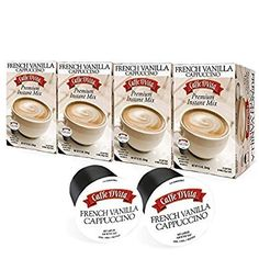 Caffe DVita Premium French Vanilla Cappuccino KCUP  Compatible with Keurig KCUP Brewing Systems Including 20  48 Count * This is an Amazon Associate's Pin. Want to know more, click on this Amazon Affiliate link. French Vanilla Cappuccino, Double Espresso, Cappuccinos, Italian Coffee, K Cups, Keurig, Coffee Drinks, Brewing, Count