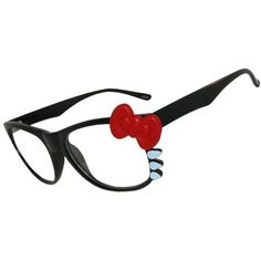 Wayfarer Style Glasses with Bow And Whiskers In Black GirlPROPS. $6.99