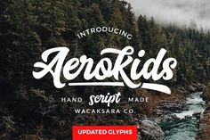 Aerokids Font: This font is inspired on a old american tv show showing baseball and basketball culture. Aerokids is a bold connected script font with a . Great Fonts, Cool Fonts, New Fonts, Creative Fonts, Handwritten Fonts, Calligraphy Fonts, Script Fonts, Caligraphy, Alphabet