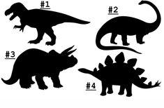 Dinosaur Stencil, Dinosaur Template, Dinosaur Images, Dinosaur Posters, Dinosaur Silhouette, Dinosaur Birthday Party, Topper, Silhouette Cameo Projects, Cricut Creations