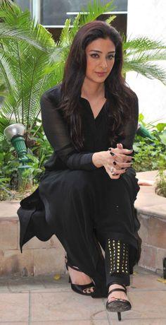 Gorgeous Indian Girl Tabu Photos In Black Dress