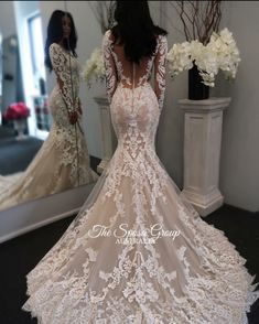 New Illusion Long Sleeves Lace Mermaid Wedding Dresses Tulle Applique Court Wedd. - - New Illusion Long Sleeves Lace Mermaid Wedding Dresses Tulle Applique Court Wedding Bridal Gowns With Buttons Source by Lace Mermaid Wedding Dress, Long Wedding Dresses, Long Sleeve Wedding, Tulle Wedding, Bridal Dresses, Dress Lace, Prom Dresses, Evening Dresses, Bridesmaid Dresses