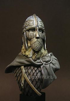 A slightly different, but still awesome approach to the full-face Viking. Viking Armor, Viking Helmet, Larp, Norse People, Thor, Viking Culture, Viking Life, Old Norse, Norse Vikings