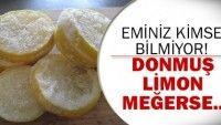 Donmuş Limonun Faydaları