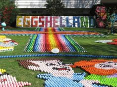 Annual Easter display made up of thousands of hand-painted eggs