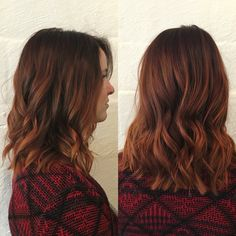 Auburn copper melt #HelloHairStudio
