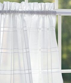 Find your favorite Country Curtains and drapes, kitchen valances, lace and sheer curtains, energy efficient thermal door panels and other window treatments at the Vermont Country Store. Curtains And Draperies, Tier Curtains, Kitchen Valances, Country Curtains, Window Design, Panel Doors, Window Treatments, Windows, House