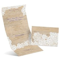Vintage Country Seal and Send Wedding Invitation at Ann's Bridal Bargains