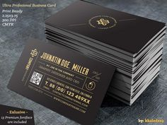 Ultra Profesional Business Card Business Card for almost any kind of company, or even personal use. All text layers can be changed with one click.Easily change the layout and color to create your o...