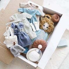 "687 Likes, 44 Comments - Лера Шерхоева (@lera_sherhoeva) on Instagram: ""Вот такой набор с нарядным платьем #lerusha #handmade #doll"""
