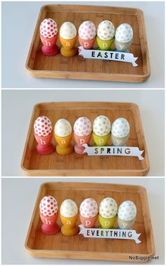 DIY stained egg cups