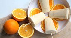 Deze sinaasappel yoghurt ijsjes maak je met slechts enkele ingrediënten en zonder ijsmachine! De blender doet al het werk voor jou! Makkelijk toch?