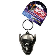 Wolverine Head Pewter Key Chain