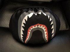 fbc7584f24a A Bathing Ape Face Mask Shark Smog Billionaire Boys Club Bape Black   fashion  clothing