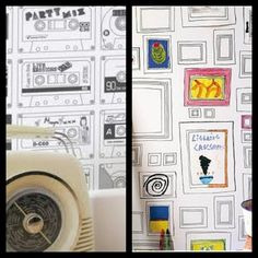 poca cosa: Color your own wallpaper