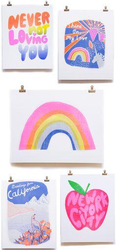 Yellow Owl Workshop Riso Print Art Prints / Oh So Beautiful Paper