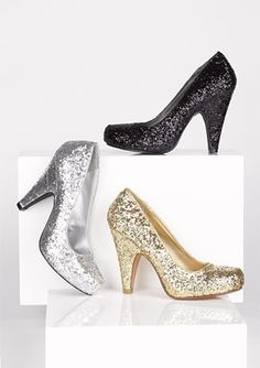 Glitzy enough to be fab heels, with a low enough heel to keep your feet happy.