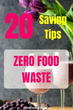 Put a stop to wasting food using these 20 saving tips. #saveonfood #grocerysavings #savemoney #save