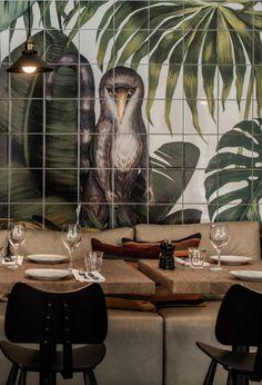Restaurant and bar Casa Cook Rhodes Greece Design Tropical, Tropical Home Decor, Tropical Interior, Tropical Pattern, Tropical Houses, Tropical Furniture, Decoration Restaurant, Deco Restaurant, Restaurant Design